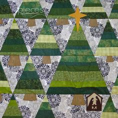 Nativity in the Trees Quilt-Along 2013-2014 at Pieces by Polly.  Includes free small Nativity and star templates as of this pin.
