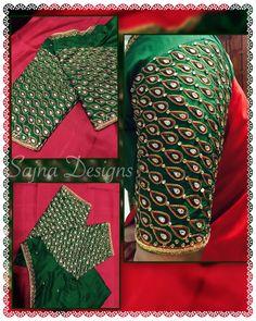 bridalblouse  greenandred  weddingblouse  muhurthamblouse  indianwedding  silksareeblousec
