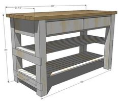 easy building plans build a diy kitchen island with free building