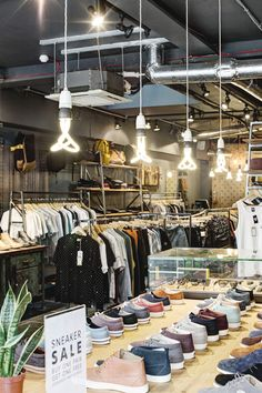 We spotted this cool Plumen retail lighting in Article, a super trendy East London men's clothes shop.
