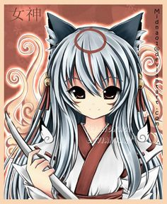 lol ammy once again. i tried a little other style on this picture, because i wanted that ammy looks more mature, i guess she does that hand is disturbing me, looks like an alien hand XD please wat. Manga Art, Manga Anime, Alien Hand, Kitsune Mask, Bleach Characters, Amaterasu, Anime Wolf, Cute Fox, Akira