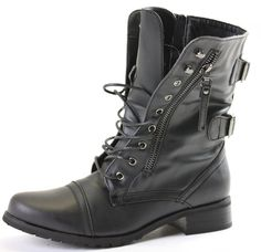 shoeFashionista Womens Ladies Military Style Army Combat Lace up Flat Low heel Ankle Worker Boots Size 3 4 5 6 7 8: Amazon.co.uk: Shoes & Bags
