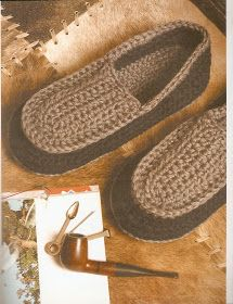 Great pattern for men slippers.