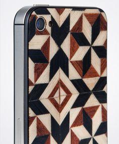Taracea wood backs for IPhone - PURE TARACEA Marquetry, Bespoke, Innovation, Tech, Apple, Iphone, Wood, Ideas, Design