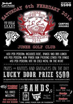 Junee Poker Run 2015 Design www.amandariley.com.au