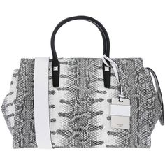 Guess Handbag (2.350 CZK) ❤ liked on Polyvore featuring bags, handbags, shoulder bags, white, white shoulder bag, guess purses, snakeskin print purse, shoulder handbags and snake print purse