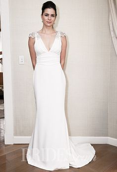 Brides: Amy Kuschel - Fall 2015. Wedding dress by Amy Kuschel