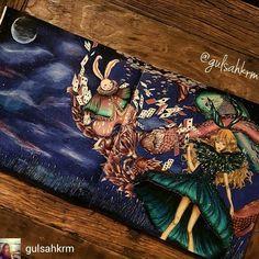 @Regrann from @gulsahkrm - #glshscolors #pandoracoloringbook #adultcoloringbook…