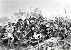 Battle of Saratoga August-October 1777 British are harassed by colonial guerilla forces and are forced to surrender.  The battle of Saratoga is considered the turning point of the war