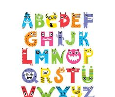 Alphabet monsters!