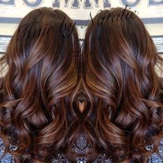 fall hair color, long brown hair with caramel balayage- my dark brown hair looks amazing with caramel highlights!