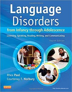 Language Disorders from Infancy through Adolescence: Listening, Speaking, Reading, Writing, and Communicating, 4th Edition by Rhea Paul ISBN-13: 978-0323071840 ISBN-10: 0323071848