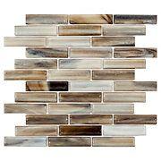 Twilight in Aspen Linear Glass Mosaic.  flooranddecor.com  might look good for backsplash Anthurium