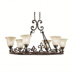 Buy the Kichler Carre Bronze Direct. Shop for the Kichler Carre Bronze Wilton Single-Tier Chandelier with 6 Lights - Chain Included - 23 Inches Wide and save. Island Lighting, Cool Lighting, Lighting Ideas, Billiard Lights, Large Chandeliers, Decorative Hooks, Kitchen Lighting Fixtures, Old World Style, Chandelier Lighting