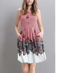 Look at this Red Scallop Fit & Flare Dress on #zulily today!