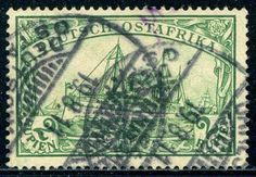 GERMAN EAST AFRICA #20 Used - 1900 2r Yellow Green  | eBay