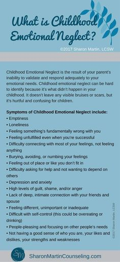 What is Childhood Emotional Neglect? - Sharon Martin, LCSW Counseling San Jose and Campbell, CA What Is Childhood, Childhood Quotes, Complex Ptsd, Bulletins, Stress Disorders, Psychology Quotes, My Demons, Emotional Abuse, Emotional Healing