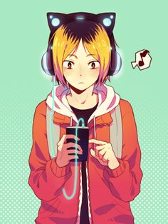 Kenma from Haikyuu!! & headphones Axent Wear. By Mino