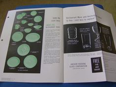Fire King Jadeite Restaurant Ware  Anchorglass Proof Ad 1958 Coupon