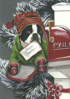 Boston Terrier Christmas Cards