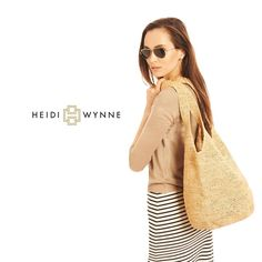 Casual Monday- Heidi Wynne Palm Beach Hobo and Nantucket V-Neck #summer #classic #casual #strawbag #cashmere