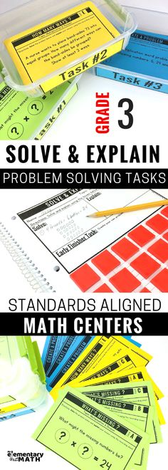 Try these common core aligned problem solving tasks for your 3rd grade kids. These problems promote critical thinking and students are encourage to explain their reasoning. Perfect for math centers, morning work, problem of the day, early finisher work and more.