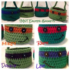 24 Ideas Crochet Kids Purse Easter Baskets For 2019 Easter Crochet Patterns, Crochet Crafts, Crochet Yarn, Crochet Projects, Crochet Baby Shoes, Crochet For Boys, Love Crochet, Crochet Ninja Turtle, Kids Purse