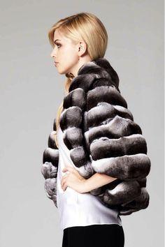 Lilly E Violetta Chinchilla Fur Jacket