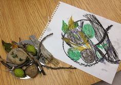 Observational drawing allow children to collect and compose their own items to draw. It would be interesting to see what they would choose