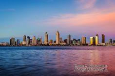 San Diego Skyline Photography | Skyline Photos | Urban Seascape Photos | Downtown San Diego | San Diego Photography | © David Christopher | All rights reserved | www.LandscapePhotographyFineArt.com
