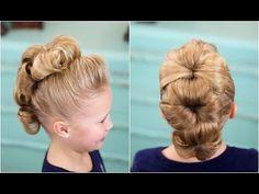 Flower Bun Hawk #dancehairstyle #fauxhawk #mohawk #cutegirlshairstyles #hairstyles #hairstyle #updo #CGHflowerbunhawk #bunhawk