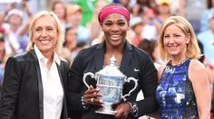 Impact 25: Serena Williams Serves Up Some Ambitious Goals For 2015 - Serena Williams joined Martina Navratilova and Chris Evert with a whopping 18 Grand Slam titles apiece.  She won Caroline Wozniacki at the US Open 2014.
