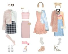 """""""Outfits Inspired by- Scream Queens"""" by indiegopearl ❤ liked on Polyvore featuring Gucci, RED Valentino, Kate Spade, Nly Shoes, WearAll, Miu Miu, Barbour, Yumi, 24HRS and UGG Australia"""