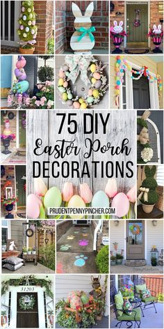 Make your porch bloom with these DIY front porch easter decorations. From Easter egg topiaries to wooden easter bunny signs, there are plenty of outdoor easter decor ideas that will improve your curb appeal and give your front porch a spring makeover. Diy Osterschmuck, Diy Recycling, Easter Table Decorations, Easter Centerpiece, My New Room, Easter Bunny, Easter Eggs, Creative, Curb Appeal