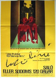 Salò o le 120 giornate di Sodoma (Salò, or the 120 Days of Sodom), 1975 - Swedish poster