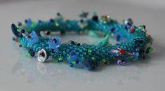A brand new bracelet made with Czech glass beads by BijouDi