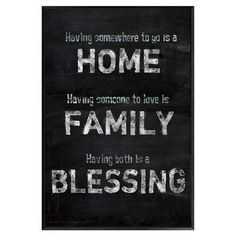PTM Home Family Blessing Framed Textual Art