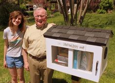 Samantha Belcourt. Kansas City, MO.  	 Since she was young my daughter has devoured books. This Little Free Library was her Christmas gift request of her Grandpa last year. He loves to build things and she loves to read so it was absolutely the most perfect gift! We've stocked it with something for everyone, from toddlers to adults, and are excited to see what turns up in exchange!