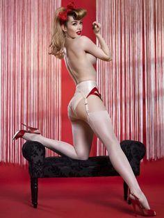 Red Hot heels and stockings -- Miss Miranda