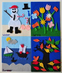felt board - seasons!