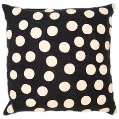 Indigo Crewel Dots Pillow – Ink (636.945 IDR) found on Polyvore
