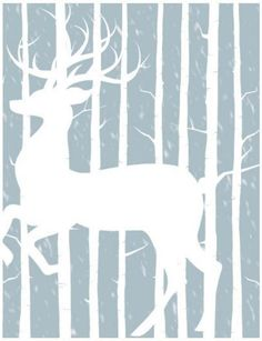 Free Printable Woodland Winter Cards   Free printable Christmas cards in a snap!
