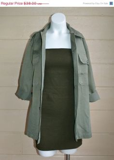 ON SALE Vintage Womens Army Shirt Jacket by founditinatlanta, $34.20