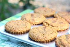 Pumpkin Orange Anise Muffins with Pecans- sibodietrecipes.com
