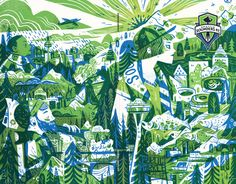 Sounders Monthly - Pam Wishbow Illustration