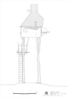 terunobu fujimori tea house drawing - Google Search
