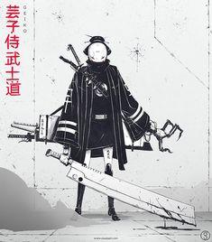 By Gennaro Grazioso #samurai #asia #china #japan #katana #shuriken #oni #onimask #sword #claws #blades #suit #fight #shinobi #anime #japanese #night #tradition #manga #asian #art