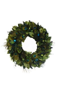"22"" Regal Peacock Wreath"