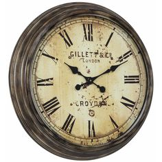 "Cooper Classics Oversized 27.5"" Frye Wall Clock"