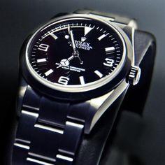 Montre Noir Black Explorer #rolex #watches